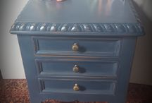 Hand painted bedside tables / Hand painted bedside tables