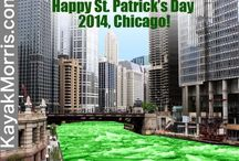 Happy St. Pattys Day Chicago / Kayak chicago river