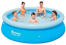 Family Pool Swimming Inflatable Swimming Lounge Seat Outdoor Kids Fun Play 8FT