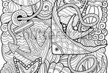 színezők, sablonok