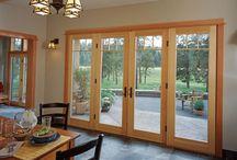 Cottage glass door