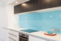 Coloured Kitchens / Brighten up your kitchen with pops of colour.