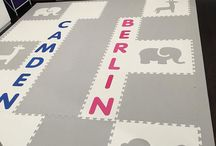 Personalized Play Mats/Playroom Floors / Easily add your child's name to your playroom floor with SoftTiles Alphabet letters. You choose the letter and colors!