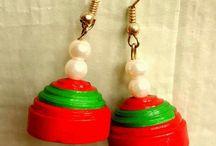 Heart in Art: Quilled earrings