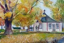Herbst Aquarell / autumn watercolors