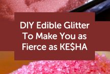 Edible glitter ideas