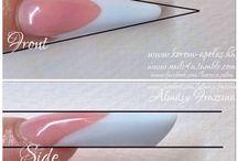 Russian almond square nails