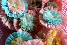 Fancy Flowers / Inspiration for creating beautiful paper flowers out of paper,  fabric, ribbon or whatever you'd like!