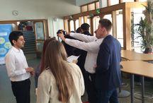 Spider-seminaari 19.5.2016 / Ensimmäisen vuoden matkailualan opiskelijat järjestivät mölkkytapahtuman sähköalan opiskelijoille