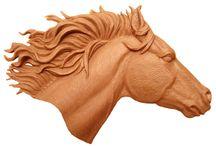 Carving - horses / koně a pod.