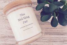 Handmade Natural Soy Candles / Here at The Melting Jar we use EcoSoya wax which is made with pure, 100% natural soybean oil.  EcoSoya waxes are composed of  non-petroleum renewable resources, promoting the growth and care of our environment while burning crisp and clean with a natural glow. This wax is biodegradable and contains no chemicals, herbicides or pesticides. Our fragrance oils are tested in natural waxes for compatibility and scent throw.