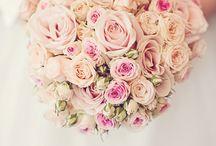 Wedding bouquet light pink roses