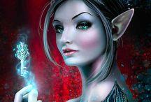fantasy art and SciFi.