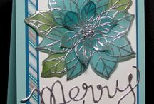 Poinsettia Punch cards