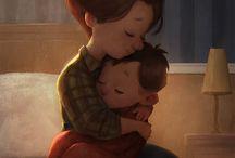 Csodálatos illusztrációk a szeretetről