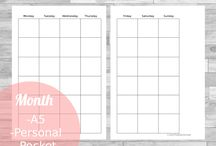 WP personal planner ideas