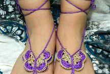 Crochet.Barefeet Sandals
