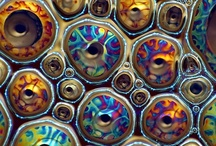 Water drops magnified
