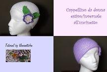 cappellino da donna estivo/invernale all'uncinetto / tutorial per la realizzazione di un cappellino da donna estivo adattabile anche ad una versione invernale (con lo stesso modello)