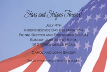 4th of July  / Party Invitations and accessories for the 4th of July holiday