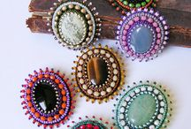 beaded brooches