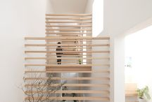 Stair and screen