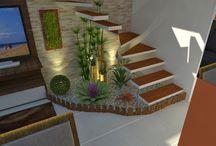 jardins debaixo da escada