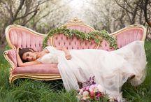 Spring Goddess Bridals / Spring Goddess Bridals: Photos: Stephanie Pass Photography Floral: Florivore Events Dress: Bridal Closet HMUA: Shelby Argyle Models Veronika Carmen Weist + Houston Redford Brown