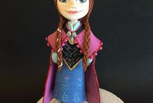 Frozen Anna Fondant
