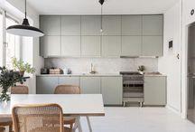 minimal kitchen with storage space
