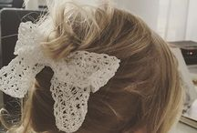 Lace bows / lace bows, handmade with love. not just for little girls <3