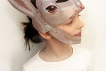 3D laminated Masks / 3d paper masks kids, dinosaurs masks, dragon masks, rabbit masks