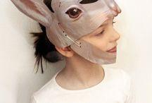 3D laminated Masks / 3d paper masks kids, dinosaurs masks, dragon masks, rabbit masks