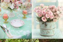 Pink & Green weddings