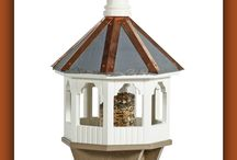 Birdfeeders And Birdhouses / Constructed of maintenance free cellular-pvc and poly materials. These bird-feeders and bird houses will be dining and living quarters for your birdies, not only for their generation, but many more to come.