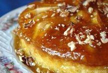 flan de manzana y nueces
