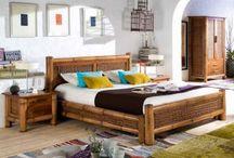 CAMAS DE MADERA / Ideas para decorar y amueblar los dormitorios con diferentes estilos y materiales de camas.