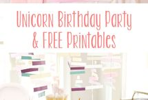Bailee's unicorn party