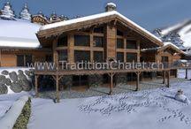 Images 3D - Les Fermes de la Delege chalet D, Crans-Montana, Switzerland / Images 3D - Luxury chalet for sale of 1200 m2, Les Fermes de la Delege chalet D, Crans-Montana, Switzerland