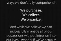 Anti-consumerism / Buy less, Fuck more.