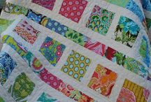 Quilting using scraps and strips