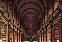 libraries, books and bookshelves