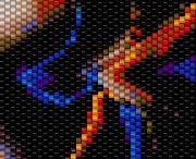 peyot, beaded mosaics,