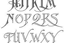 caligraphy alphabet