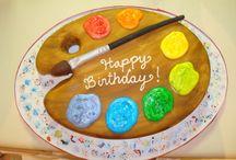 painter's birthday cake