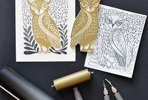 Linocut Stamp making