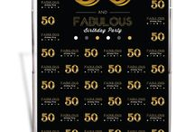 50 and fabulous ideas 50th birthday party / Events