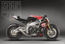 Cafe racers and moto gp