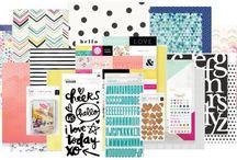 Hip Kit February 2016 / Hip Kit February 2016 Scrapbook Kits Layouts