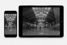 Numérique / Digital / Projets numériques conçus par CL Design. Digital projects created by CL Design.